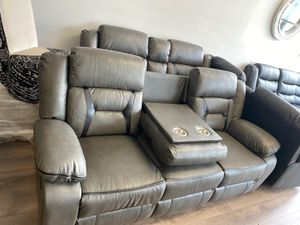 Reclining grey sofa and loveseat for Sale in Oxon Hill, MD