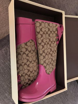 Coach rain boots, size 8 for Sale in New Orleans, LA