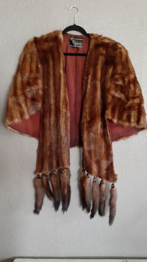 Brown mink shawl for Sale in Chino, CA