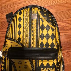 Yellow And Black Leather MCM Backpack for Sale in Irving,  TX