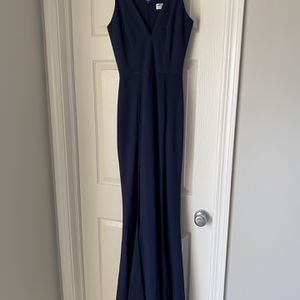 Navy Floor Length Dress With Slit for Sale in Elgin, IL