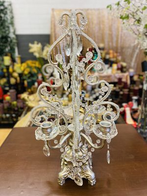 """Beautiful vintage candle holders ,crystal ,jewelry in good condition $60 firm """"NO HOLDING """" for Sale in Glendale, AZ"""