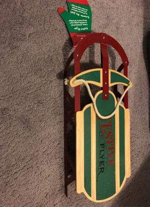 Hallmark Festive mini sled for Sale in Joliet, IL