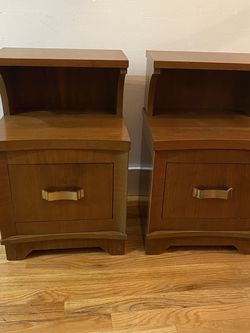 Pair Mid Century Art Deco Nightstands for Sale in University Place,  WA