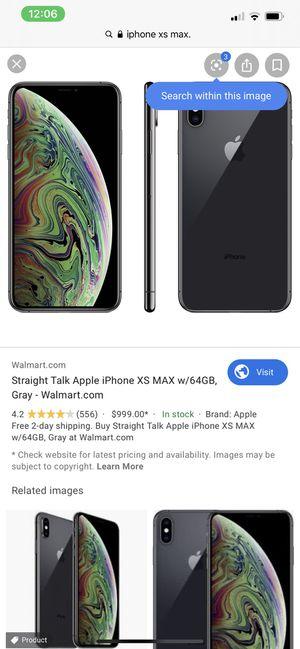 iPhone 64g Xsmax for Sale in Bridge City, TX