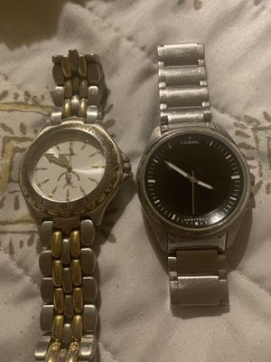 2 - fossil watches - need batteries for Sale in Glendale, AZ