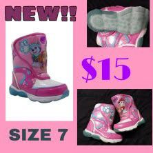 NEW Girls size 7 boots paw patrol for Sale in Peculiar, MO