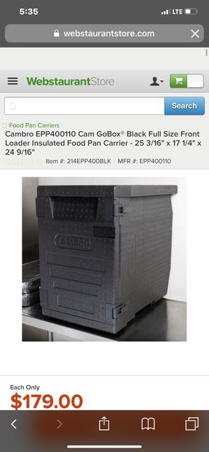 Top of the line almost brand new Cambro insulated boxes for food. for Sale in Katy, TX