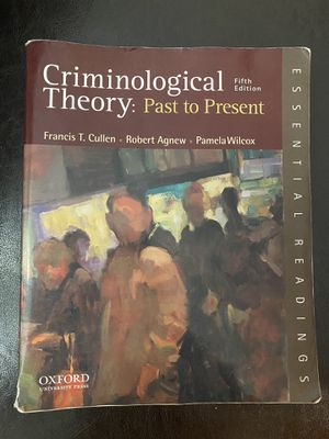 Criminological Theory: Past to Present for Sale in Boston, MA