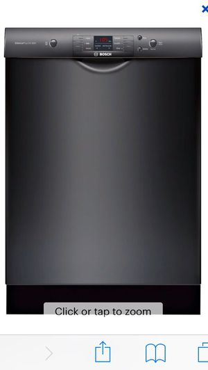 """Bosch - 100 Series 24"""" Front Control Built-In Dishwasher with Stainless Steel Tub - Black for Sale in San Diego, CA"""