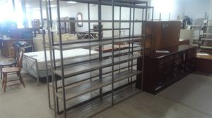 6 x 6 Brown metal shelving for Sale in Dallas, TX