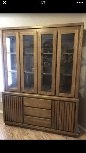 Contemporary Oak China hutch by Pure & Simple -trade? for Sale in Avondale, AZ