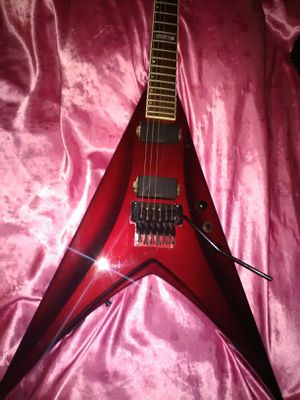 Emg Esp Edwards flying V guitar original Floyd rose tremolo for Sale in Las Vegas, NV