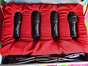 Audio-Technica Kitpak Drum Microphone set With Metal Case, Excellent..- for Sale in West Los Angeles, CA