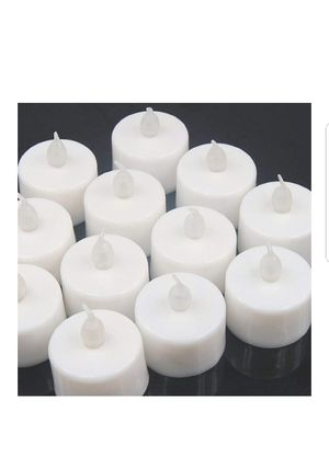 25 Pack Flameless LED Tea Light Candles White Realistic and Bright, 300h+ Working Time,Dia 1.4'' Electric Candle New for Sale in Silver Spring, MD