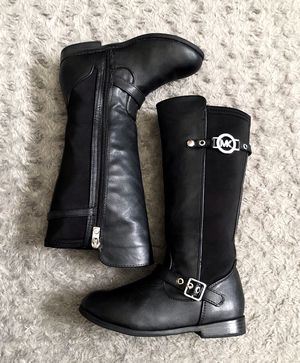 Girls Michael Kors Xiamara Riding Boots Retail $60 size 13 Great condition! Color black with sliver hardware normal wear. for Sale in Washington, DC