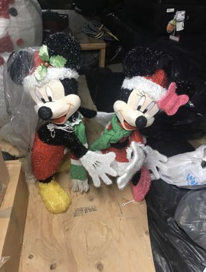 Disney Christmas holiday decoration Mickey Mouse Minnie Mouse for Sale in Staten Island, NY