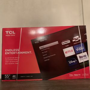 TCL 55 Class 4 Series 4K UHD HDR Smart for Sale in Galt, CA