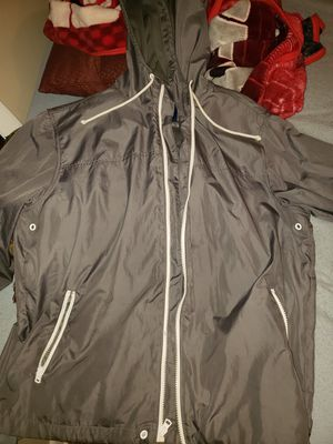 Gray and white old navy hoody jacket Large for Sale in Columbus, OH
