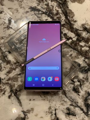 Purple Samsung Galaxy Note 9 128GB AT&T and Cricket for Sale in Raleigh, NC