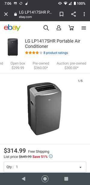 LG portable AC unit for Sale in Inkster, MI