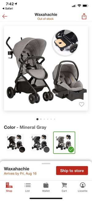 Evenflo car seat and stroller for Sale in Glenn Heights, TX