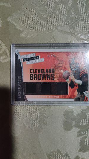 Baker Mayfield three pieces card for Sale in Worth, IL