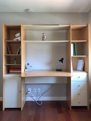 Plummer's desk and bookshelves for Sale in Irvine, CA