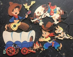 VINTAGE COWBOY n INDIAN CUT OUTS - for Sale in Peoria, IL