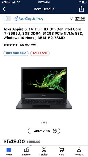 Acer aspire 2019 o only 4 months ago I got my 600 computerSelling it for $350 firm cash for Sale in Chattanooga, TN