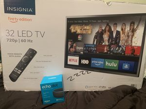 Insignia 32 inch fire tv edition with 3rd gen Alexa (never even opened) for Sale in Sully Station, VA