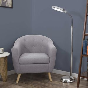 5 Feet Sunlight Floor Lamp With Adjustable Gooseneck - Silver for Sale in San Juan Capistrano, CA