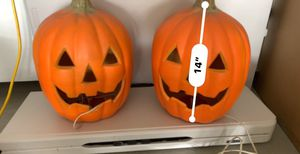 Two large electric pumpkin lanterns. $2 each. for Sale in Irvine, CA