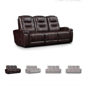 2 Couches 2 & 3 Seater, Brand New With Lumbar/head/recline support, USB & storage for Sale in Decatur, GA
