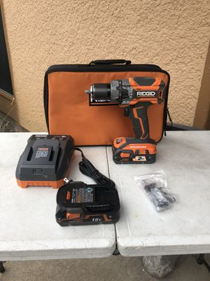 Ridgid 18volts X5 Hammer drill two battery's one charged perfect condition $125 for Sale in Carrollton, TX