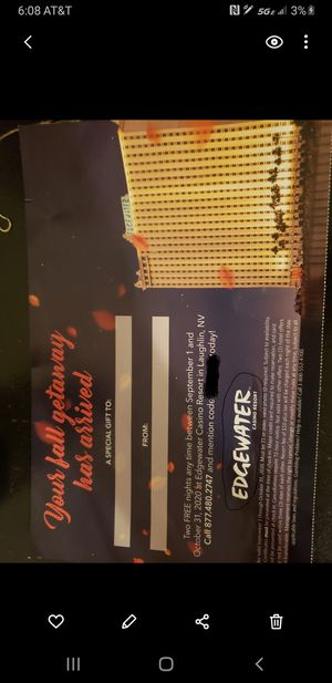 TICKETS!! To laughlin(river). for Sale in Hesperia, CA