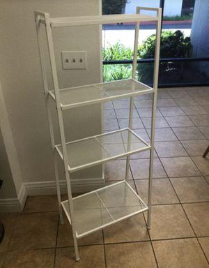 Metal 4 Tier Shelf Available Black or White for Sale in Pomona, CA