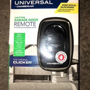 Brand New Universal By Chamberlain 2 Button Garage Door Remote for Sale in Phoenix, AZ