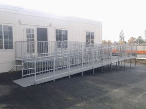 Modular Deck & Ramp for Home or Office trailer for Sale in Chino, CA