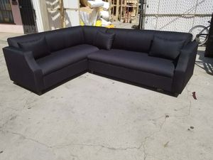 NEW 7X9FT DOMINO BLACK FABRIC SECTIONAL COUCHES for Sale in San Diego, CA