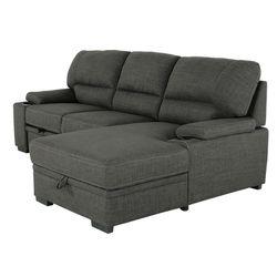 Tessaro Sleeper Sectional W/ Storage Pop-up Chaise for Sale in Marlborough,  MA