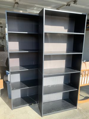 Black wood bookshelves for Sale in Palmdale, CA