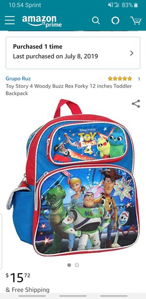 Toy story 4 kids backpack for Sale in Kissimmee, FL