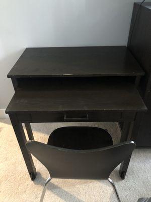 Desk & Chair - west elm. Dark wood. for Sale in Arlington, VA