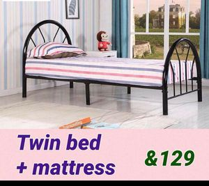 Twin bed with matress for Sale in Dearborn, MI