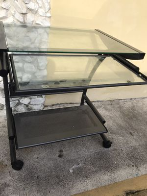 1 office desk / Glass computer for $40 Like New for Sale in Hollywood, FL