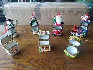 Xmas box ornaments and rare red vase. for Sale in Portland, OR