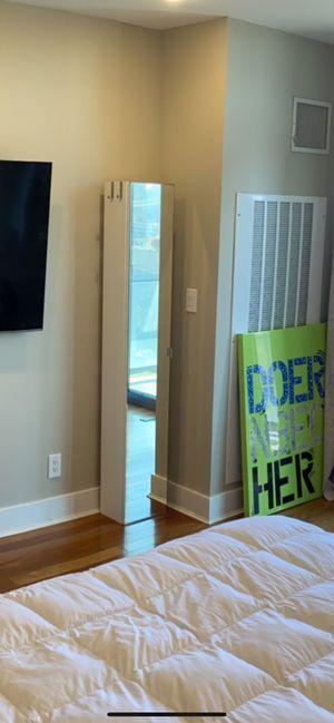 Floor length Mirror w/storage shelves & side hooks for Sale in New York, NY