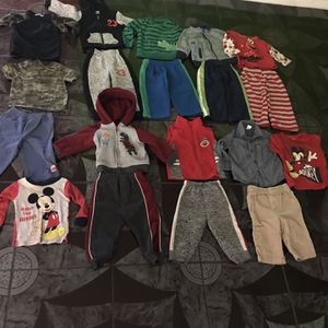 19 pieces of boys clothes size 12 months all for $25.00 Firm for Sale in Hesperia, CA