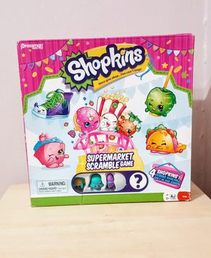 Shopkins board game toy supermarket scramble for Sale in Chicago, IL